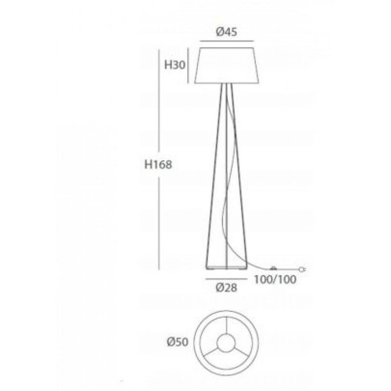 Floor lamp - DRUM Ø 50 cm