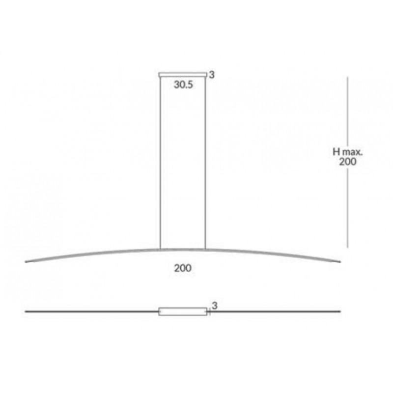 Pendant lamp RITA (2 m)