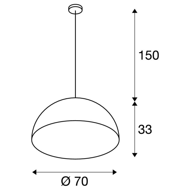 Pendant lamp - FORCHINI Ø 70 сm