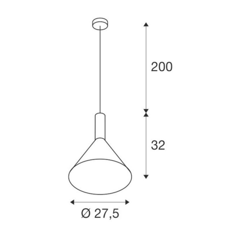 Pendant lamp - PHELIA Ø 27,5 см