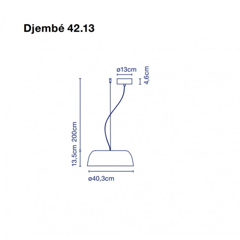 Pendant lamp DJEMBE 65.23