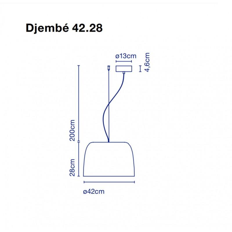 Pendant lamp DJEMBE 42.28