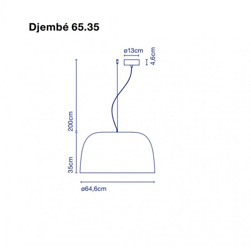 Pendant lamp DJEMBE 65.35