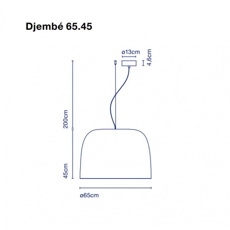 Pendant lamp DJEMBE 65.45