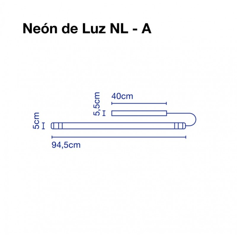 Wall lamp NEON DE LUZ 94 cm