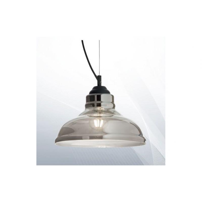 Pendant lamp - BISTRO SP1 PLATE Ø 28 cm FUME