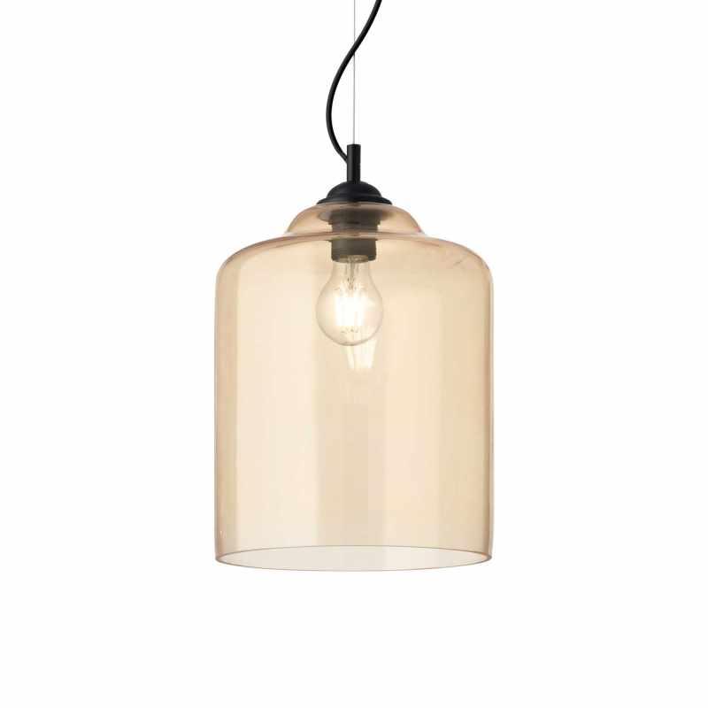 Pendant lamp - BISTRO SP1 SQUARE Ø 24 cm Ambra