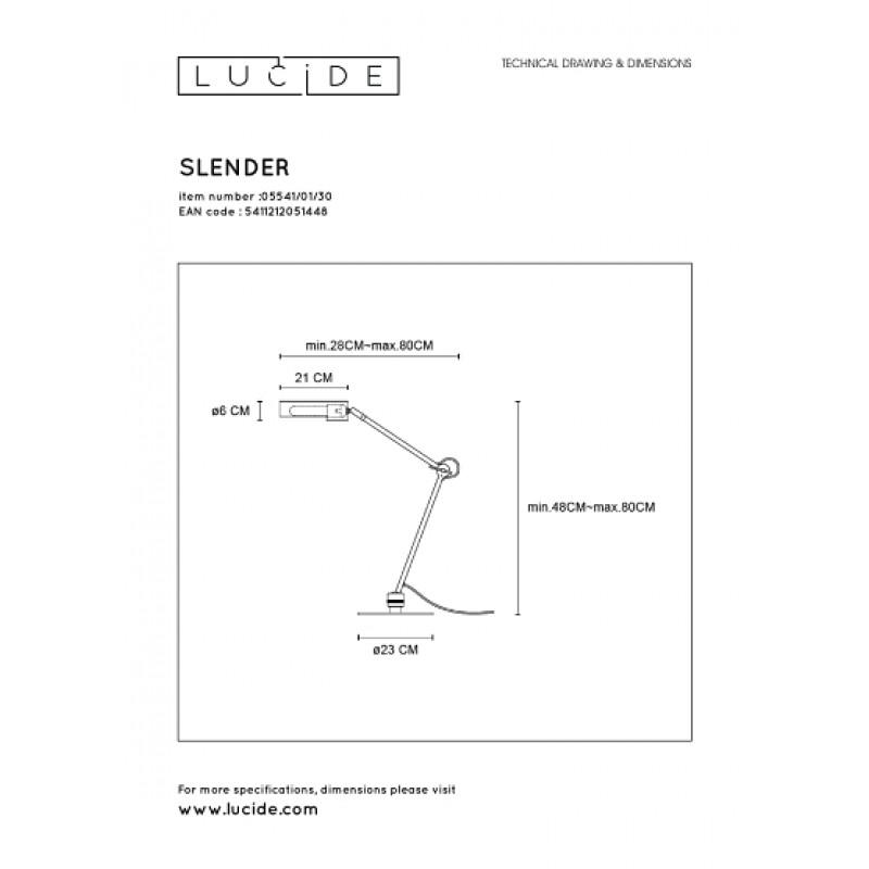 Table lamp SLENDER