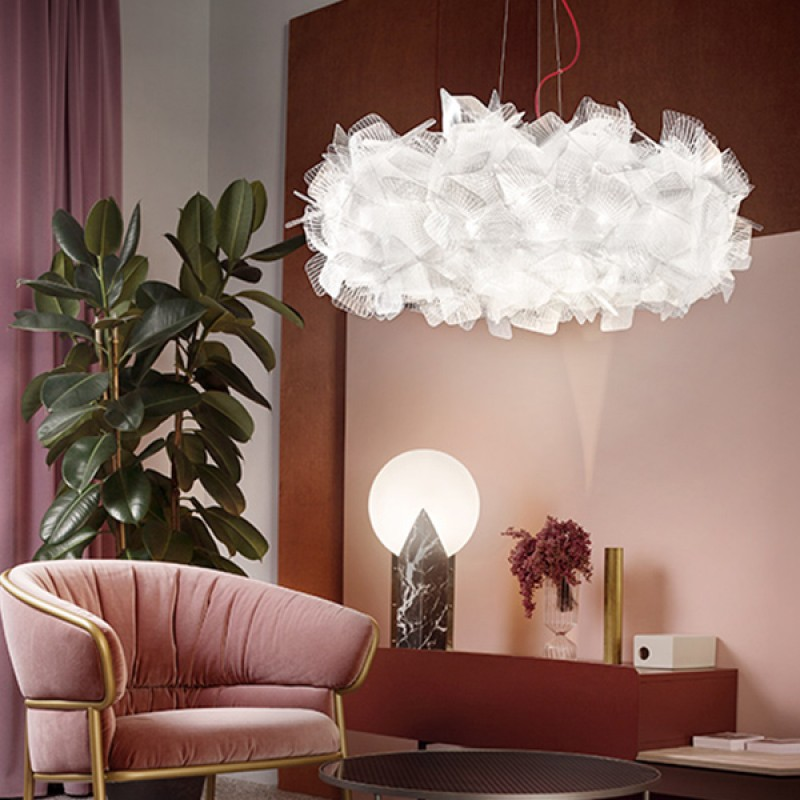 Pendant lamp CLIZIA Pixel Suspension Prisma L