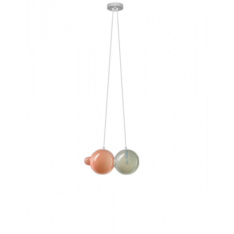Pendant lamp PENDULUM 2 POSITION PINK & LIGHT ...