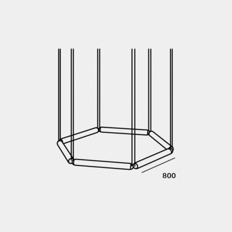 Pendant lamp PURO CONTOUR HEXAGON 800