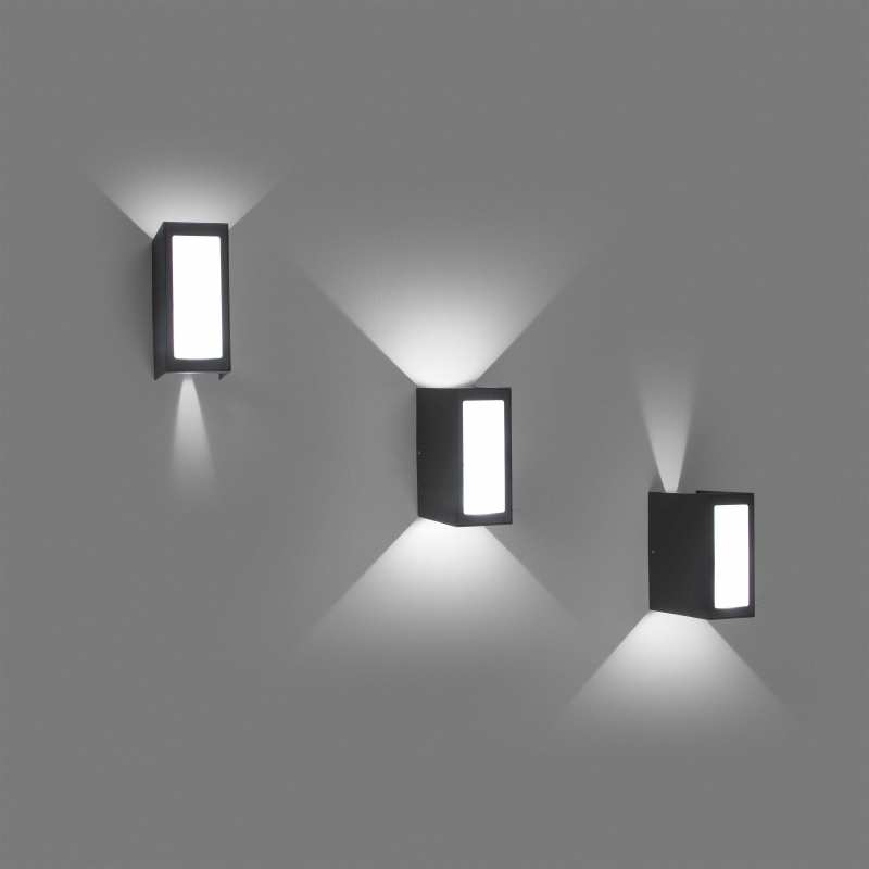 Wall lamp LOG Dark Grey