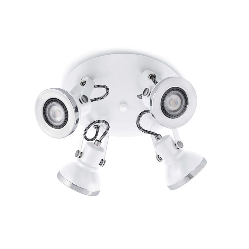 Ceiling lamp RING White 4L