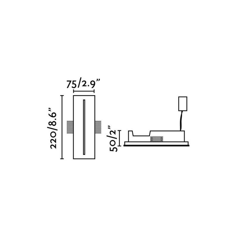 Downlight lamp PLAS - 2 Led White