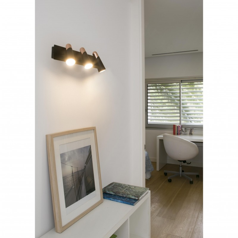 Wall lamp LAO LED Black 3 L
