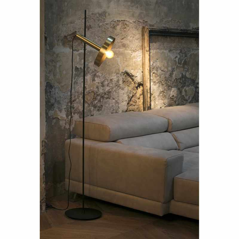 Lamp WHIZZ Black and satin gold