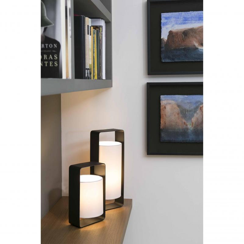Table lamp LULA-G black and white