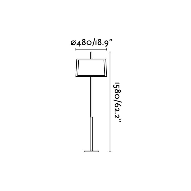 Floor lamp - SABA Matt nickel