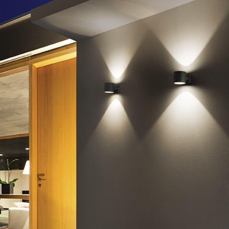Ceiling-wall lamp SNIF ROUND AP1 Anthracite