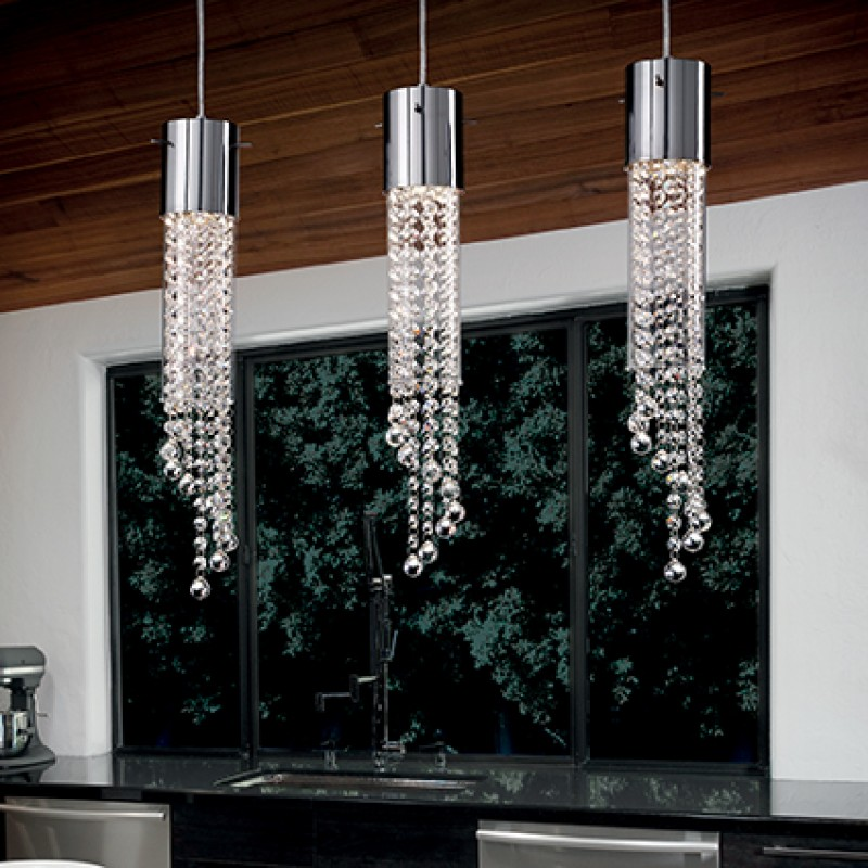 Pendant lamp GOCCE SP3 Chrome