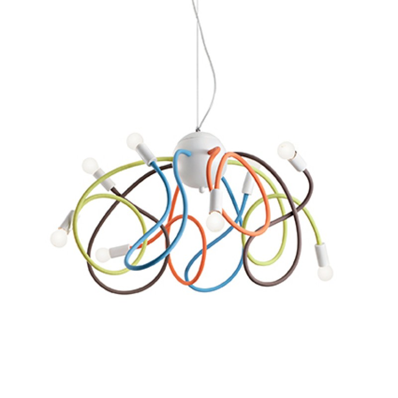 Pendant lamp MULTIFLEX SP8 Multicolore