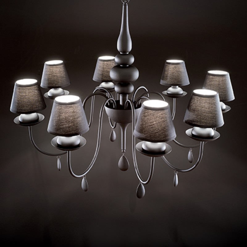Chandelier BLANCHE SP8 Black