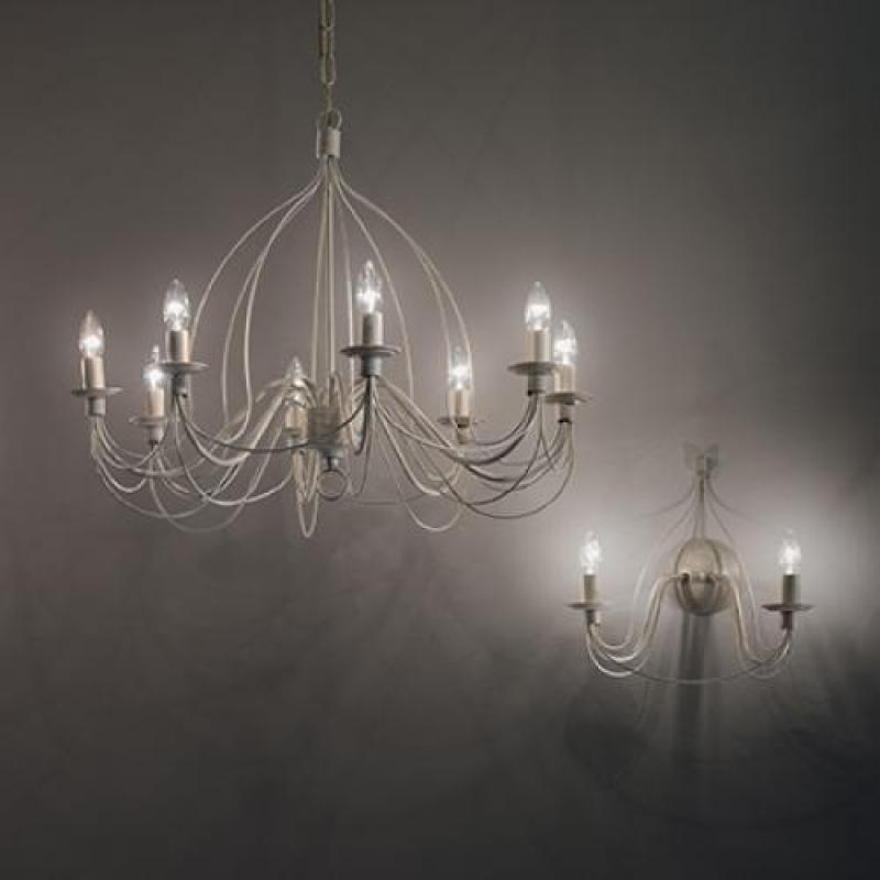 Chandelier CORTE SP8 Antique White