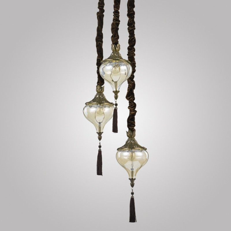 Pendant lamp HAREM SP3 Antique Brass