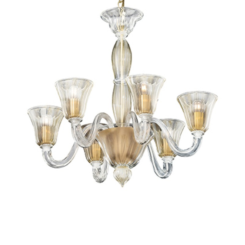 Chandelier CA FOSCARI SP6 Gold