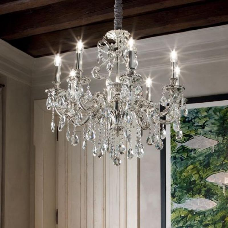Chandelier IMPERO SP8 Silver