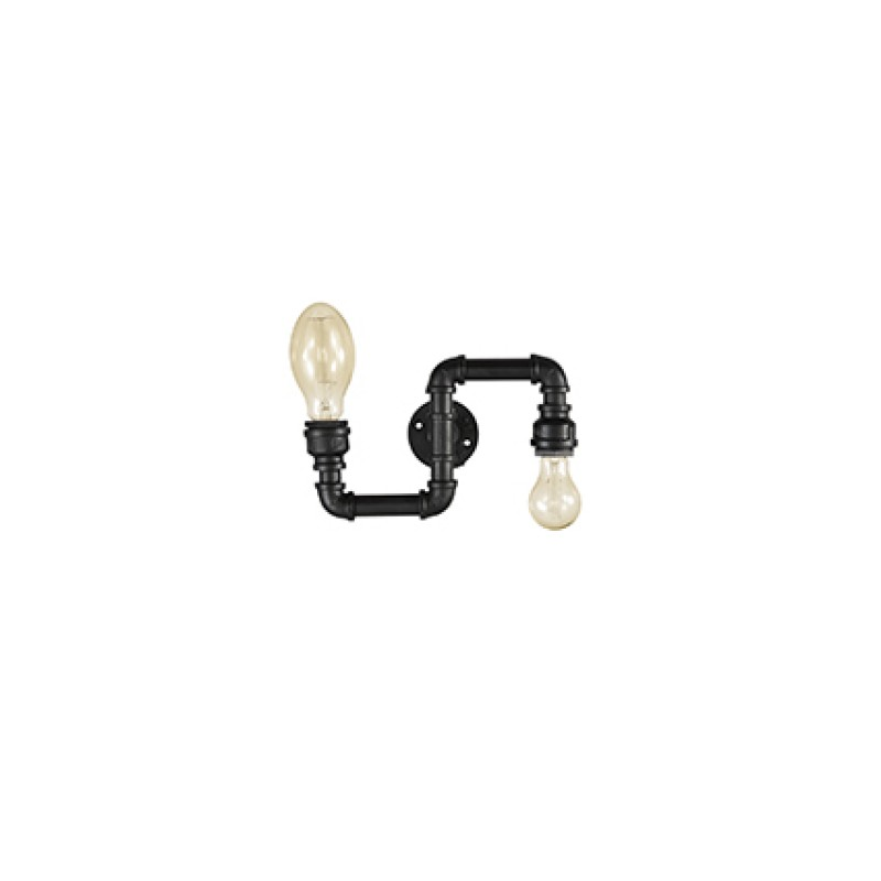 Wall lamp PLUMBER AP2 Black