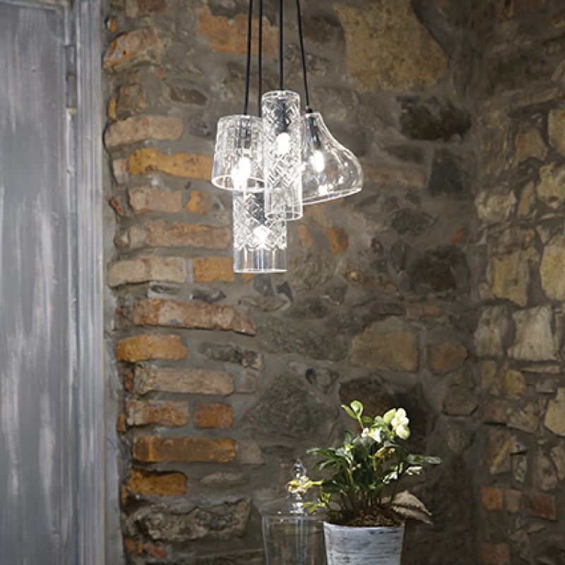 Pendant lamp COGNAC-4 SP1Transparent