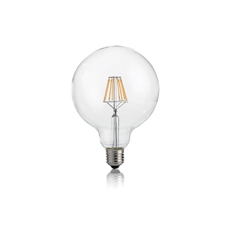 LED Bulb CLASSIC E27 8W GLOBO D95 TRASP 3000K, Ø 9...