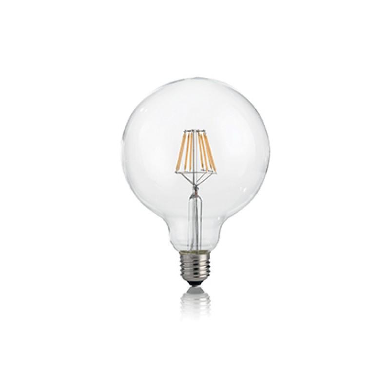 LED Bulb CLASSIC E27 8W GLOBO D125 TRASP 3000K, Ø ...
