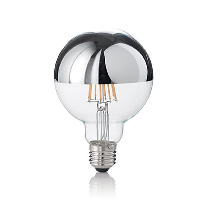 LED Bulb CLASSIC E27 8W GLOBO D95 CROMO 3000K, Ø 9,5 cm