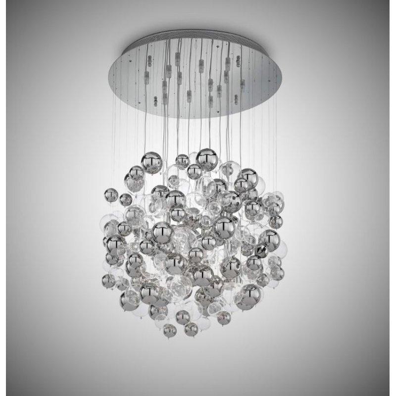 Pendant lamp - BOLLICINE SP14 Cromo Ø 50 см