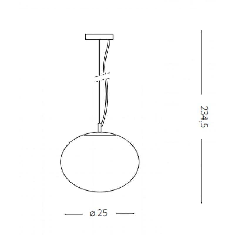 Pendant lamp - CANDY SP1 Ø 25 cm