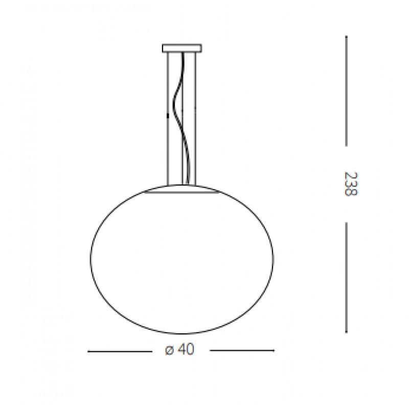Pendant lamp - CANDY SP1 Ø 40 cm