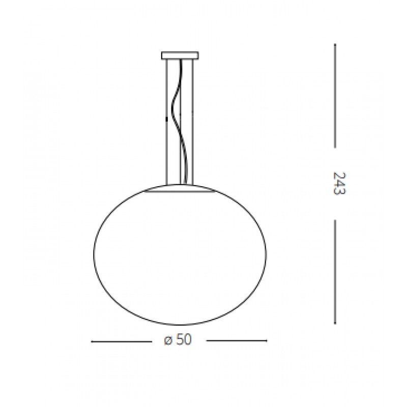 Pendant lamp - CANDY SP1 Ø 50 cm