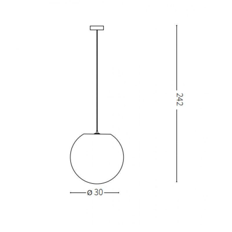 Pendant lamp - CARTA SP1 Ø 30 cm