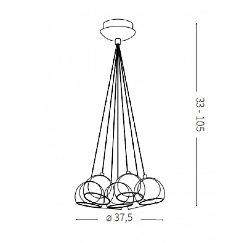 Pendant lamp - CIN CIN SP7 Ø 37,5 cm