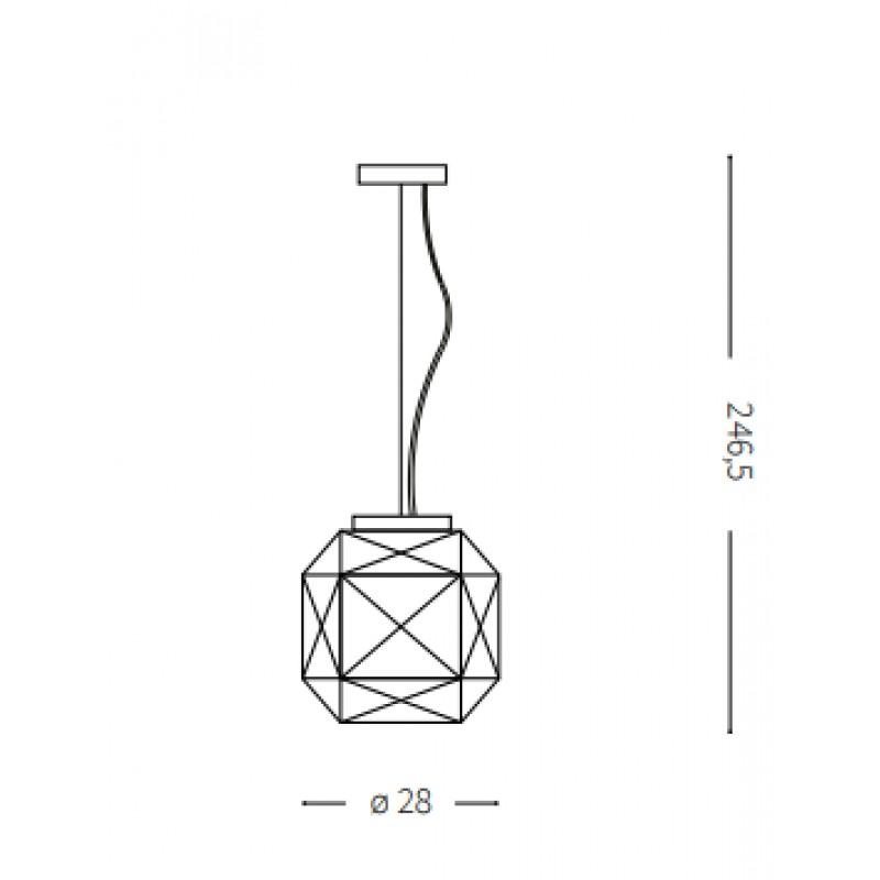 Pendant lamp - DIAMOND SP1 MEDIUM Ø 28 cm