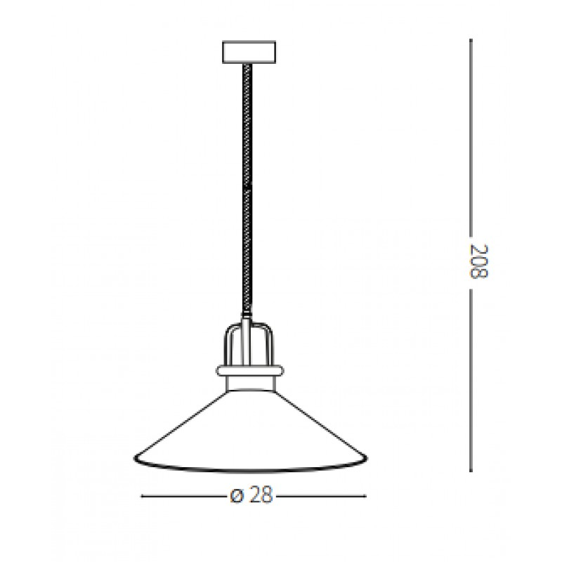 Pendant lamp - ERIS-3 SP1 Ø 28 cm