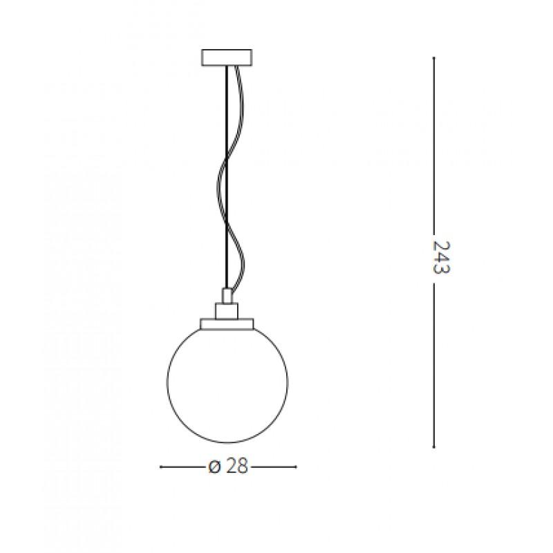 Pendant lamp - GRAPE SP1 SMALL Ø 28 cm