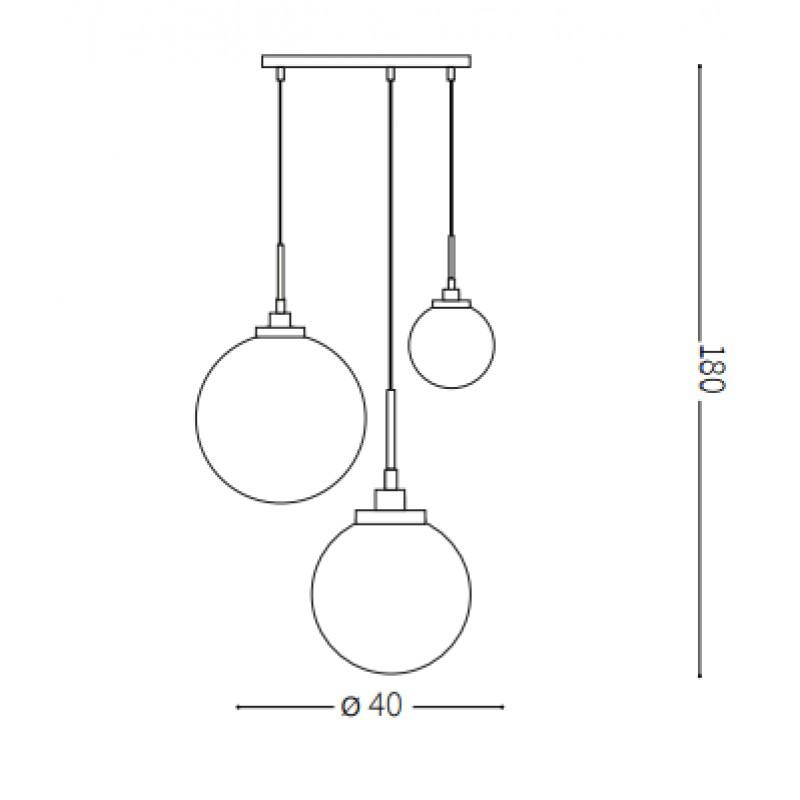 Pendant lamp - GRAPE SP3 Ø 40 cm