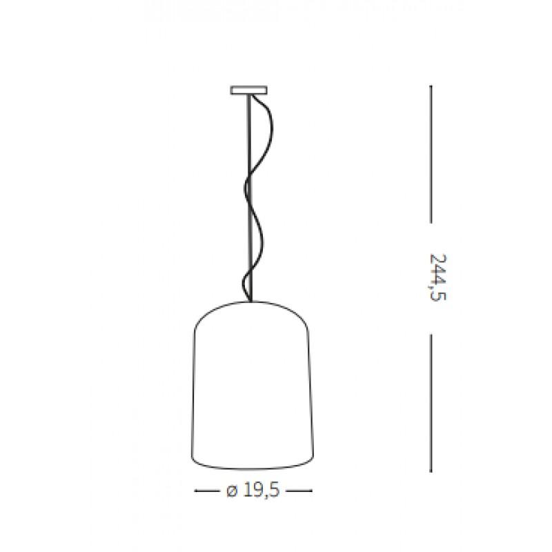 Pendant lamp - KEN SP1 SMALL Ø 19,5 cm