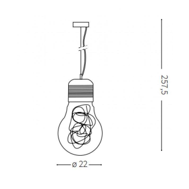 Pendant lamp -LUCE MAX SP1 SMALL Ø 22 cm