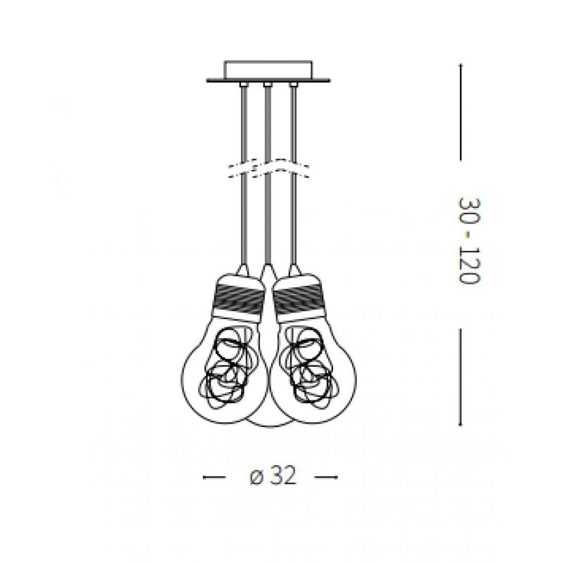 Pendant lamp -LUCE MAX SP3 Ø 32 cm
