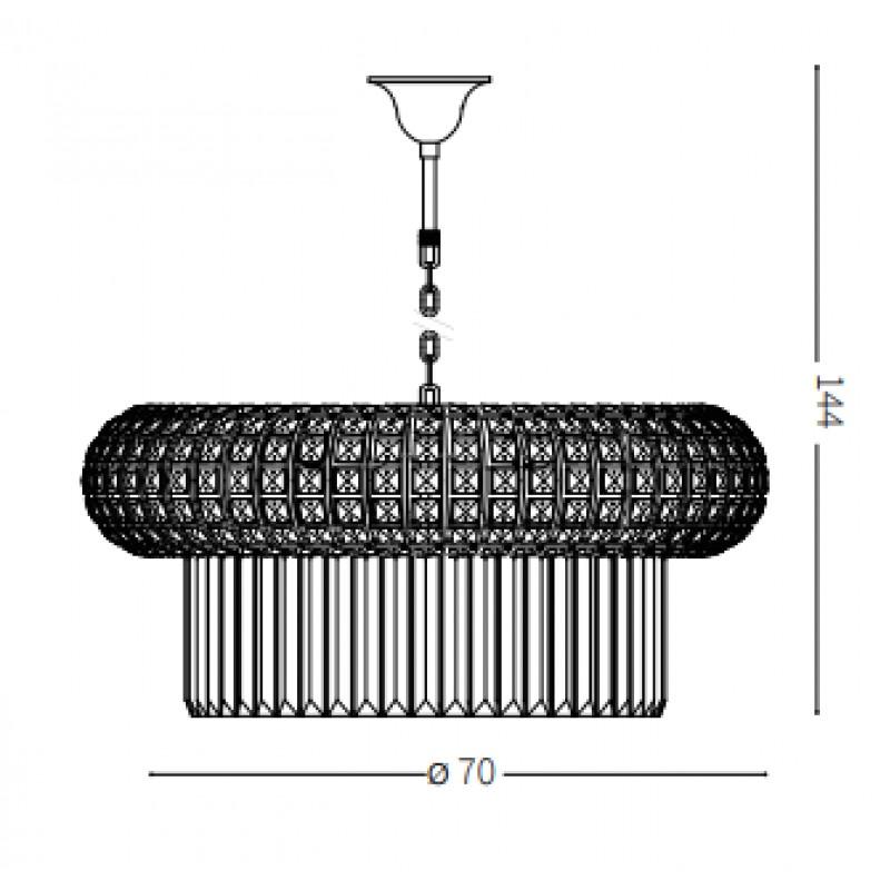 Pendant lamp - NABUCCO SP18 Ø 70 cm