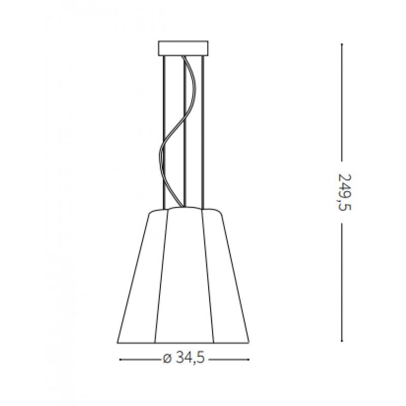 Pendant lamp - SESTO SP1 Ø 35 сm